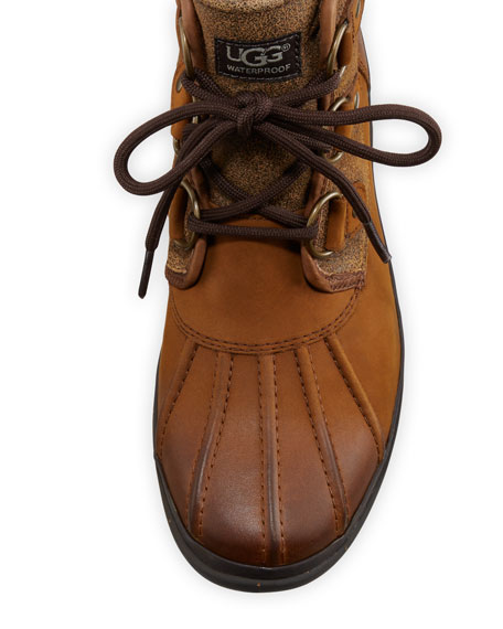Cecile Lace-Up Weather Boot, Chestnut