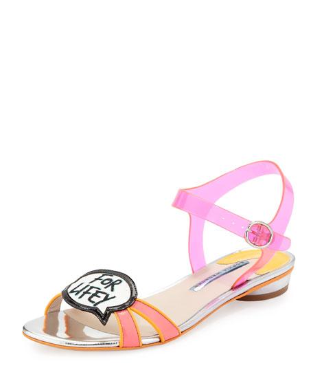 Ellen Wifey For Lifey Speech Bubble Sandal, Pink/Orange