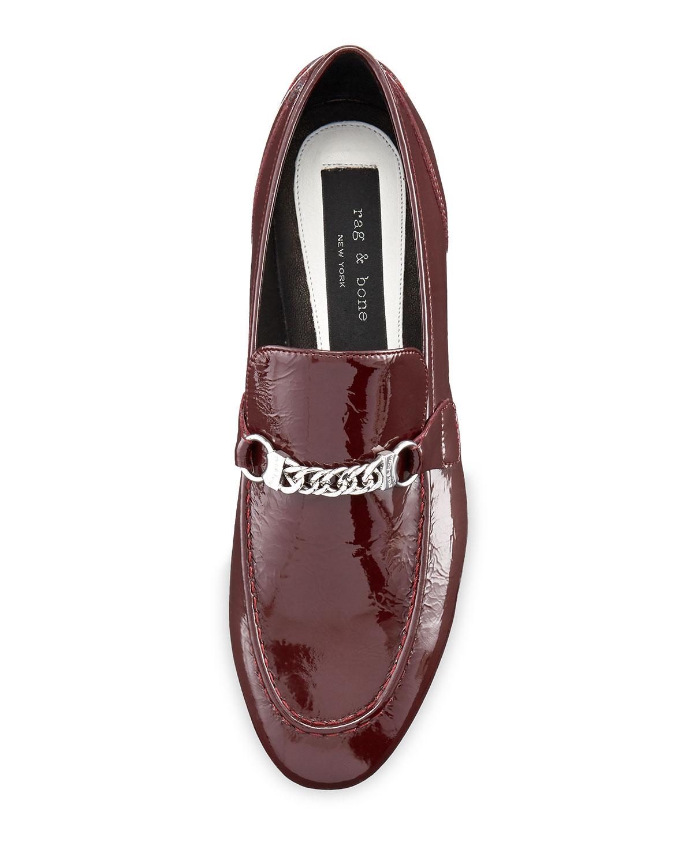 eb16df5089 Rag & Bone Cooper Patent Chain Loafer, Bordeaux | Neiman Marcus