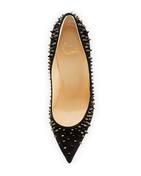 Escarpic Spike 100mm Red Sole Pump