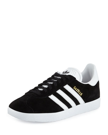 Gazelle Original Suede Sneakers, Black/White