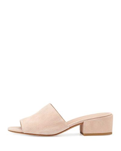 VINCE Rachelle 2 Suede Block-Heel Mule Sandal