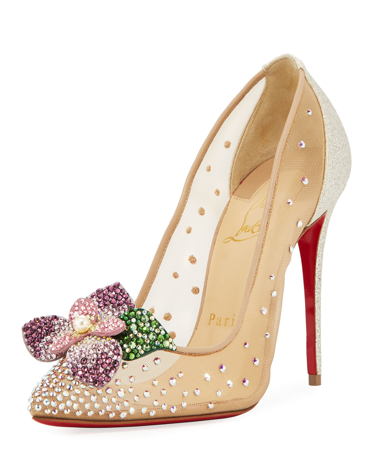 61d61d1ec37 Christian Louboutin Feerica Crystal-Embellished Red Sole Pumps ...