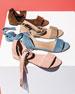 Corbata Suede Ankle-Wrap Sandal
