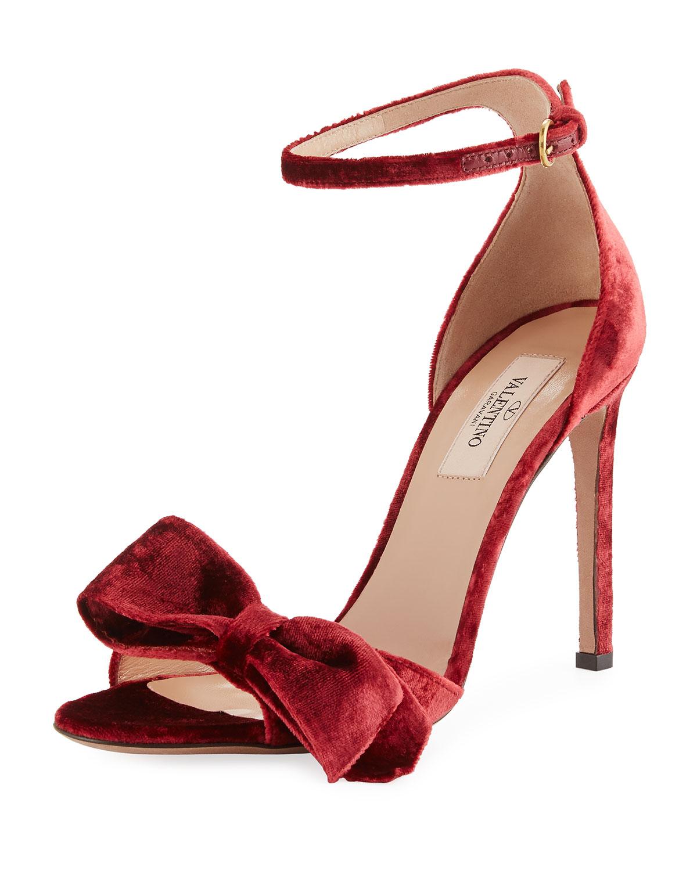 3de3dc79c54 Valentino Garavani Velvet Bow Sandal