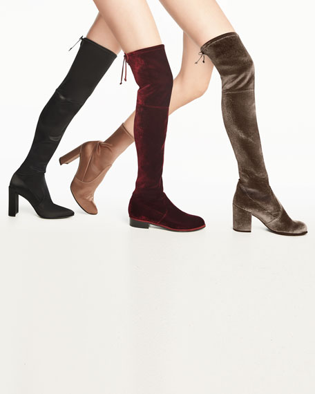 Highchamp Satin Over-the-Knee Boot