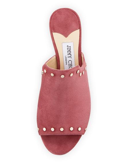 Myla Studded Suede Slide Sandal