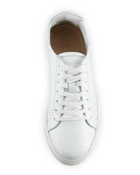 Bibi Butterfly Low-Top Leather Sneakers, White