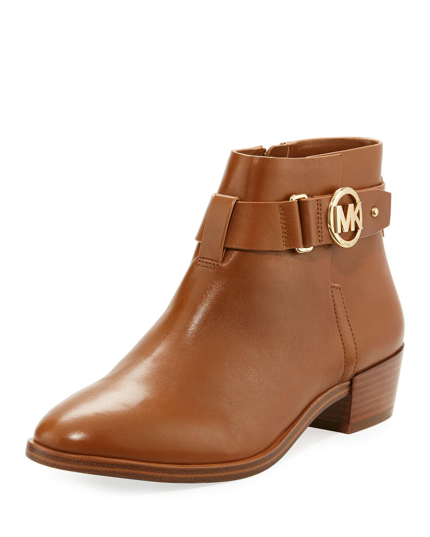53e413e4ceaa MICHAEL Michael Kors Harland Vachetta Leather Logo Bootie