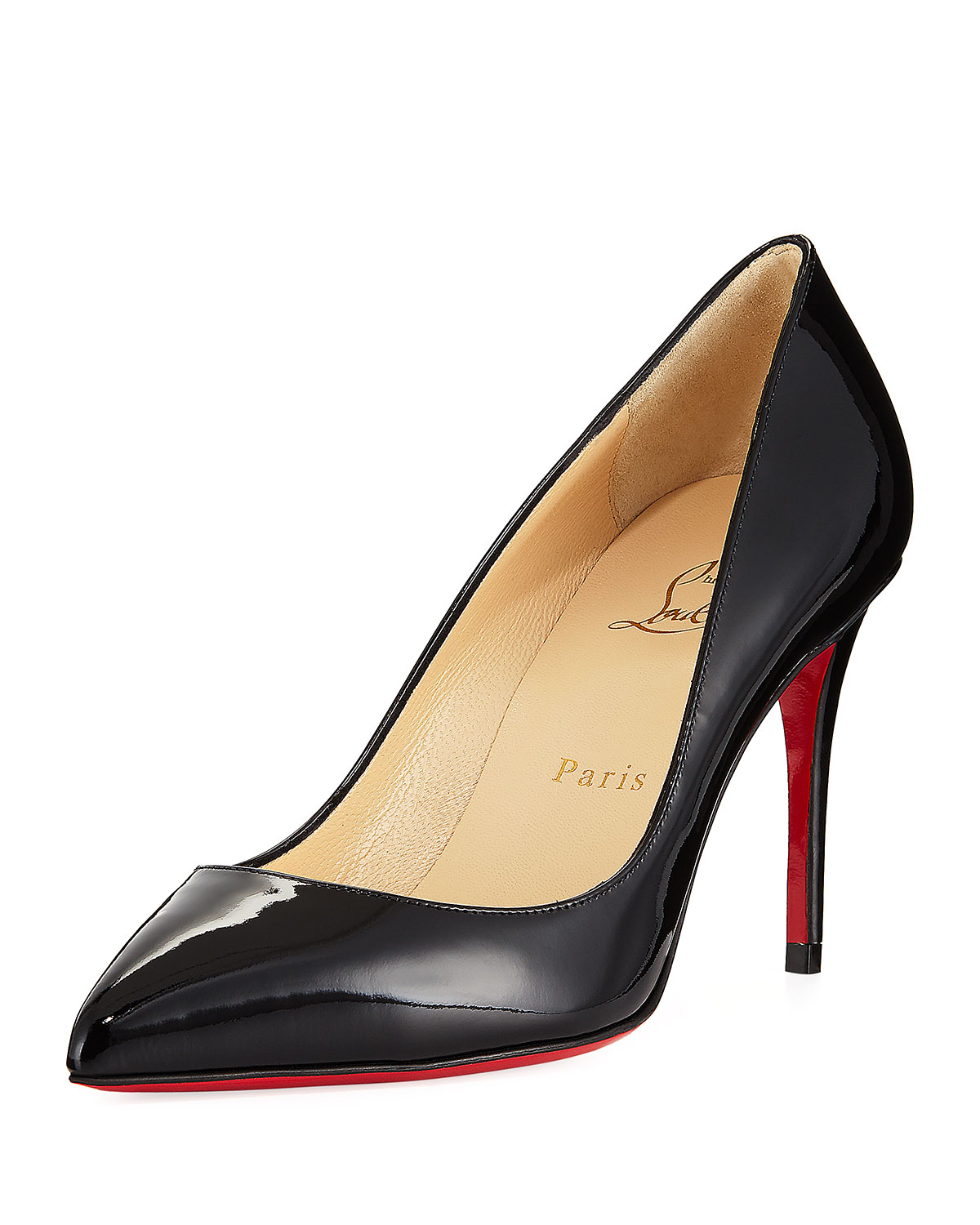 huge discount 24fbe 530ab Pigalle Follies 85mm Patent Red Sole Pump