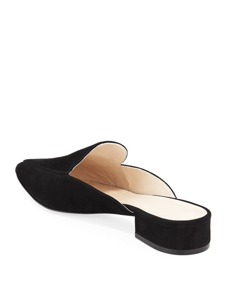 Cole Haan Piper Grand Suede Flat Loafer Mule, Black