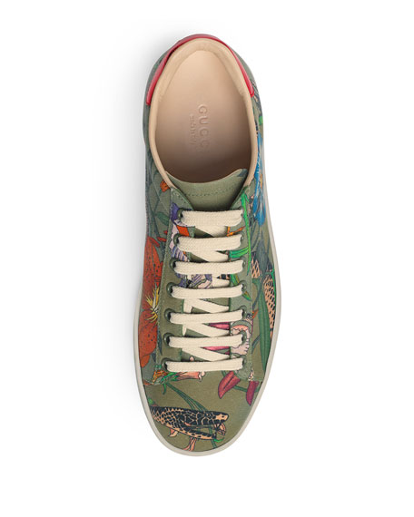 New Ace Floral Canvas Trainer
