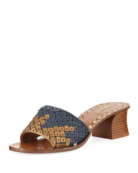 Bottega Veneta Intrecciato Woven Band Slide Sandal