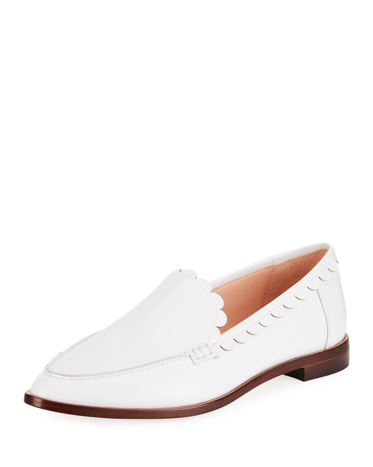 8922f952bb55 kate spade new york cape scallop-trim leather loafer