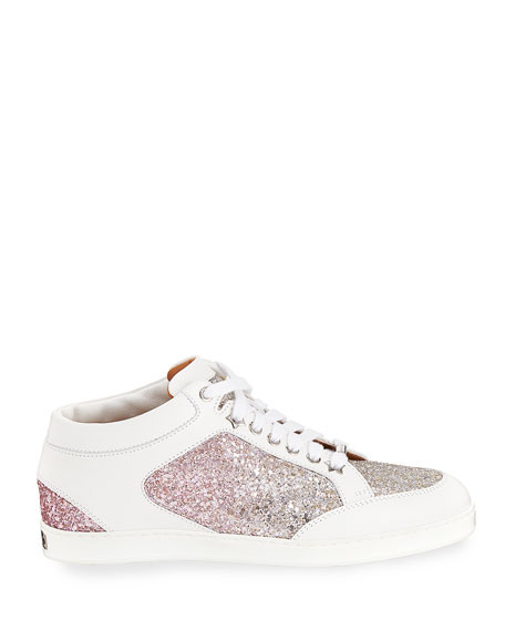 Miami Leather and Glitter Sneaker