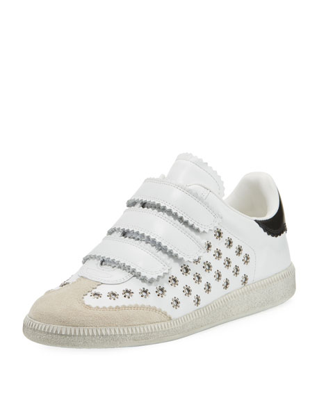 Beth Studded Grip-Strap Sneakers