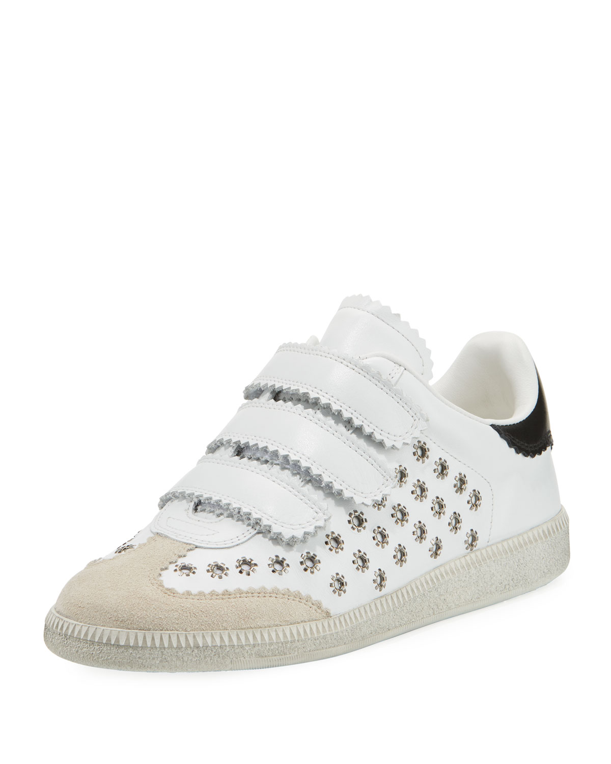 a4f587b660 Isabel Marant Beth Studded Grip-Strap Sneakers | Neiman Marcus
