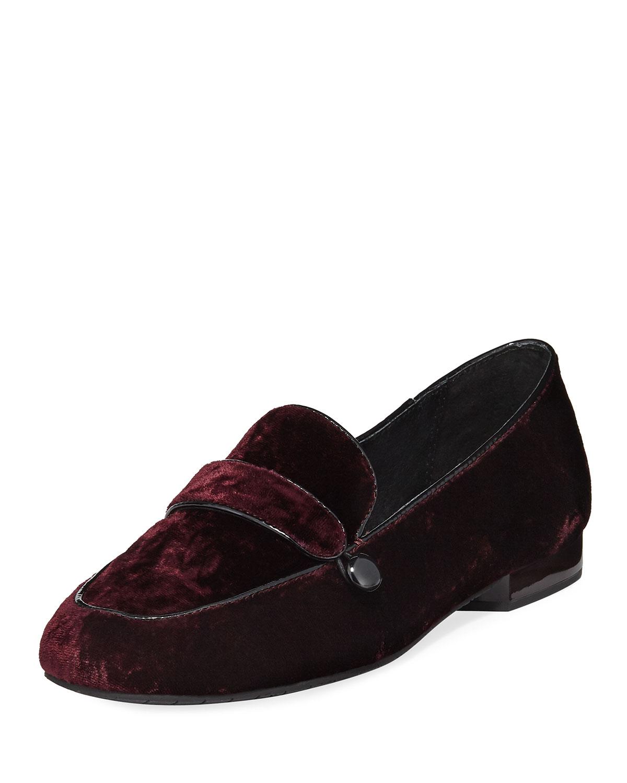Donald J Pliner Velvet Round-Toe Loafers cheap shop gdlyN