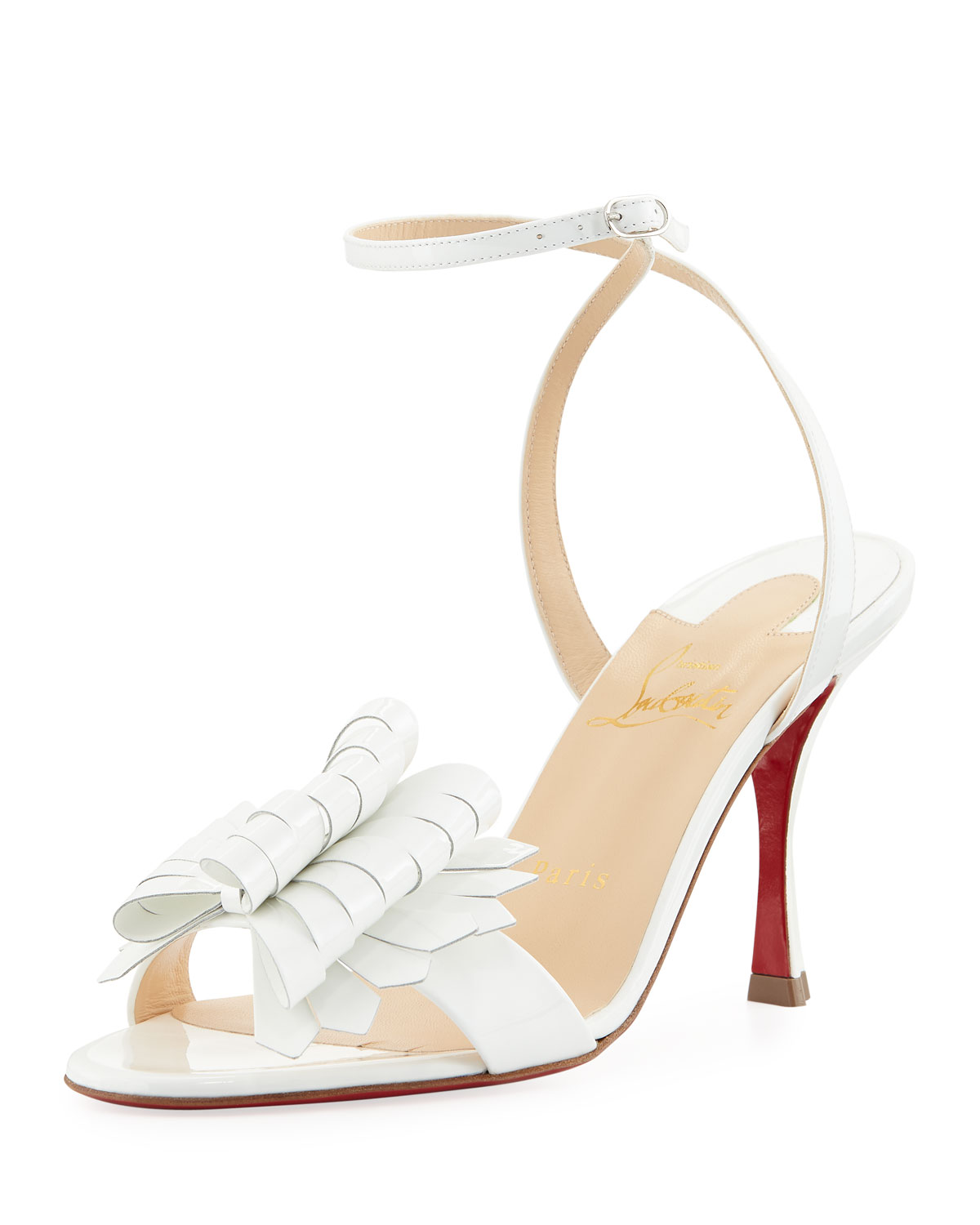 7b410b4d3ee Christian Louboutin Miss Valois 85 Red Sole Sandal