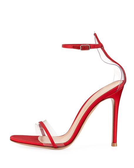 Plexi Satin Ankle-Strap 105mm Sandal