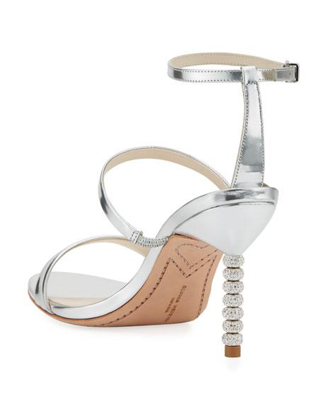 Sophia Webster Rosalind 85mm Metallic Three-Strap Sandal