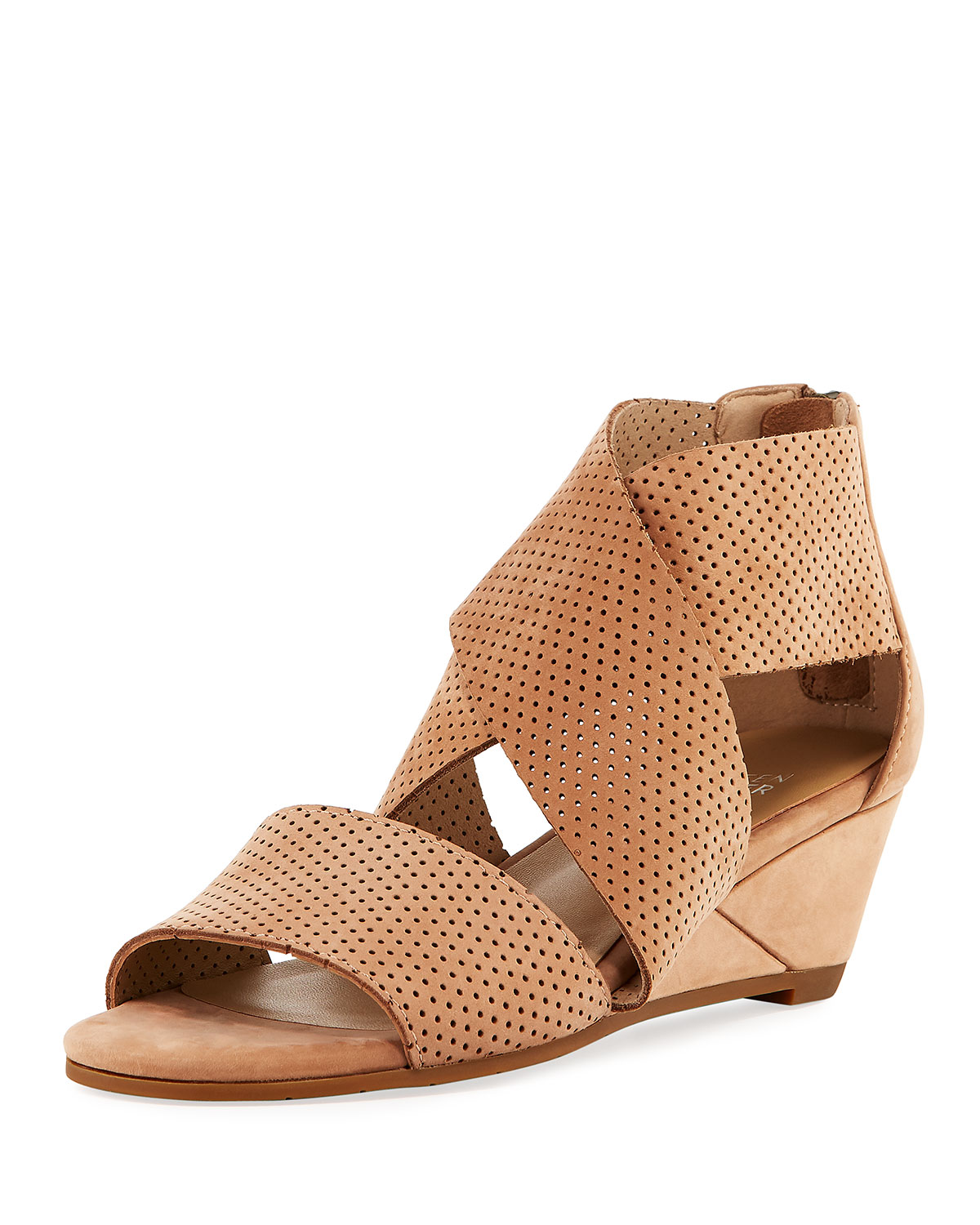 Kes2 Perforated Wedge Sandals ylSNXN