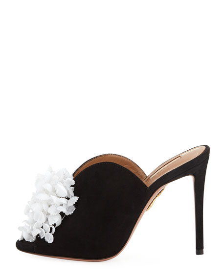 Lily Of The Valley Slide Mule