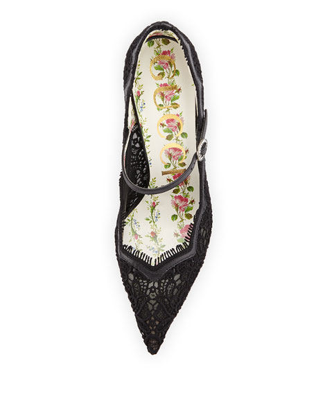 Virginia Lace Mary Jane Pump
