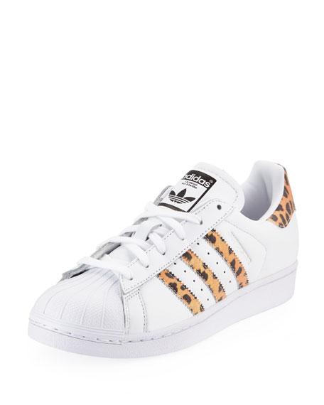 aa803157c3a8d Adidas Superstar Leopard Sneakers