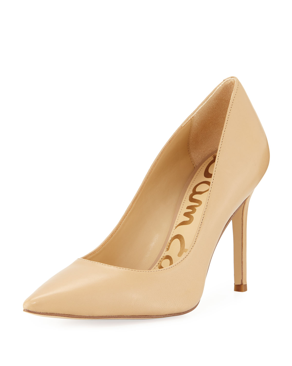 4229ff08eb Sam Edelman Hazel Napa Leather Pointed Pumps | Neiman Marcus