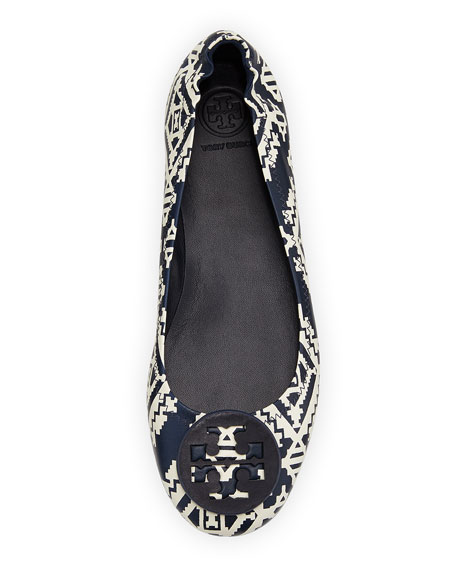 Minnie Floral Travel Logo Ballet Flats