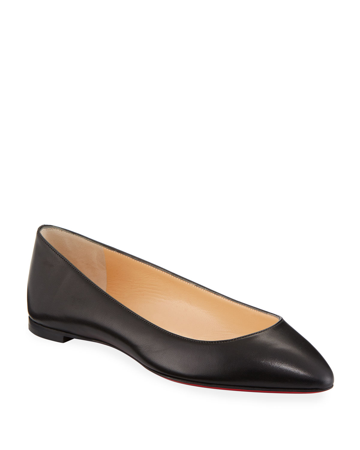 finest selection 86716 3d2ff Eloise Napa Leather Red Sole Flat