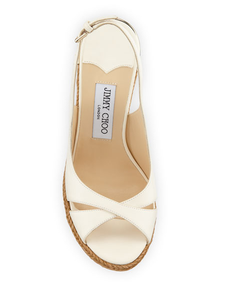 Amely 105mm Leather Cork Wedge Sandals