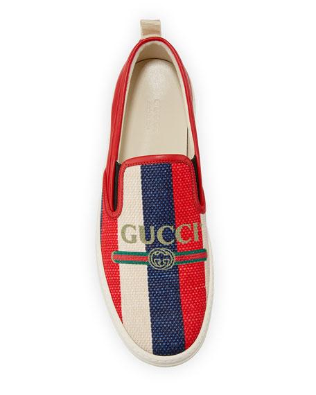 Gucci Dublin Striped Fabric Skate Sneaker