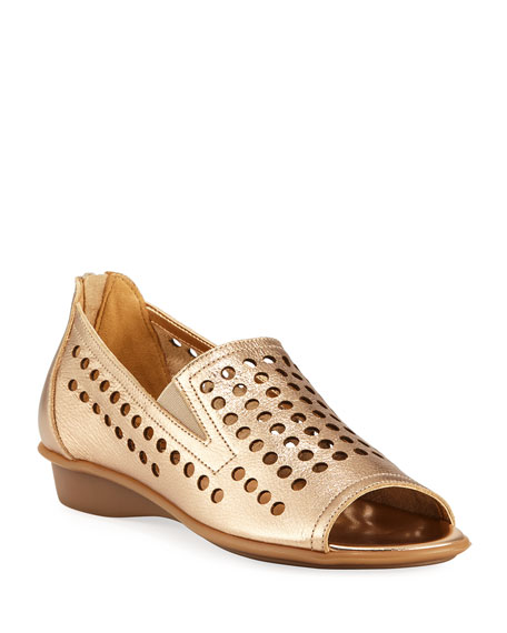 Image 1 of 4: Ellen Perforated Comfort Slip-On Flat