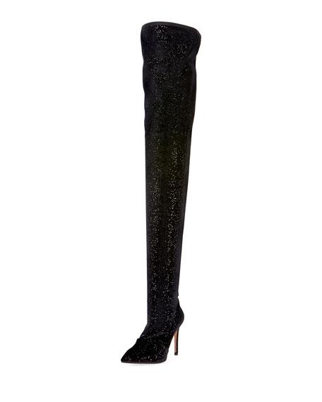 Amazone Glitter Over-The-Knee Boot