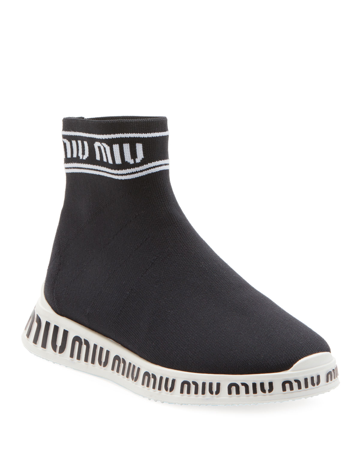 the latest 19d7a 10384 Sock Knit High-Top Trainer Sneakers