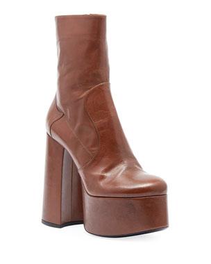 e40ff826a7 Saint Laurent Billy Kangaroo Leather Platform Boot