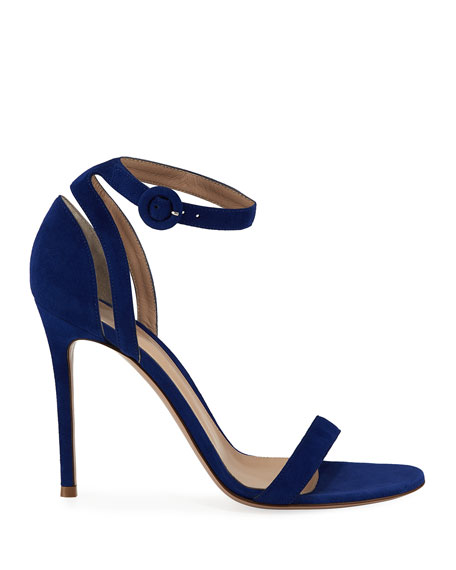 Gianvito Rossi 105mm Suede d'Orsay Sandals
