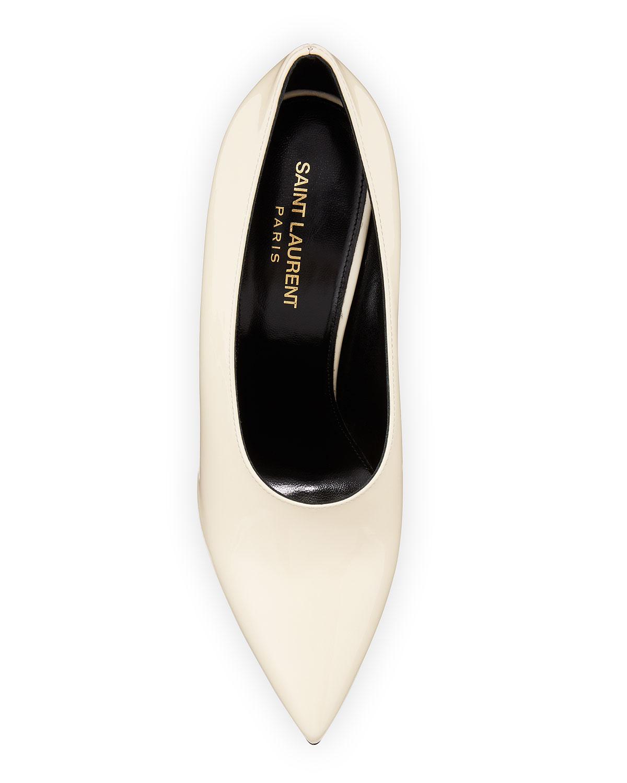 d0a3df0b307bb Saint Laurent Teddy High-Vamp Patent Leather Pumps | Neiman Marcus