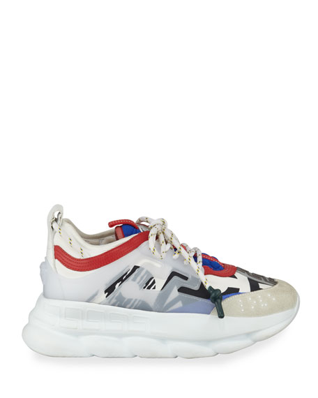 Versace Colorblock Chain Reaction Sneakers