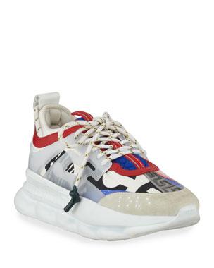 cbc80b82f51c35 Versace Colorblock Chain Reaction Sneakers