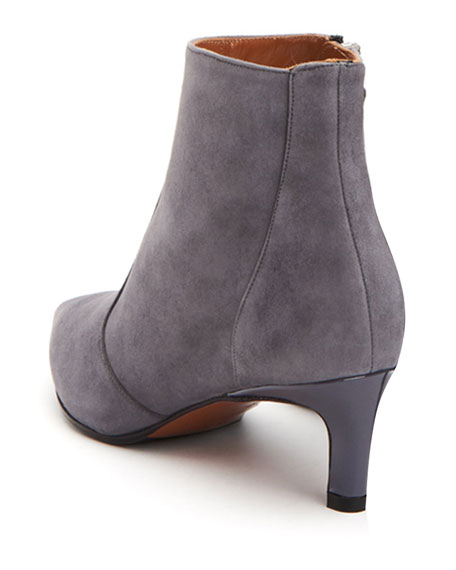 6e39eb575904e Aquatalia Marilisa Low-Heel Suede Booties | Neiman Marcus