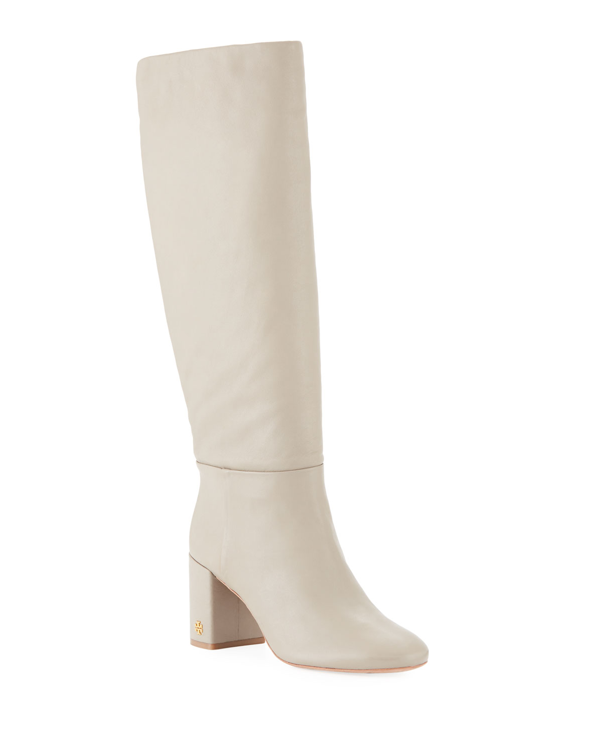 6f0457bc414 Tory Burch Brooke Slouchy Leather Block-Heel Knee Boots