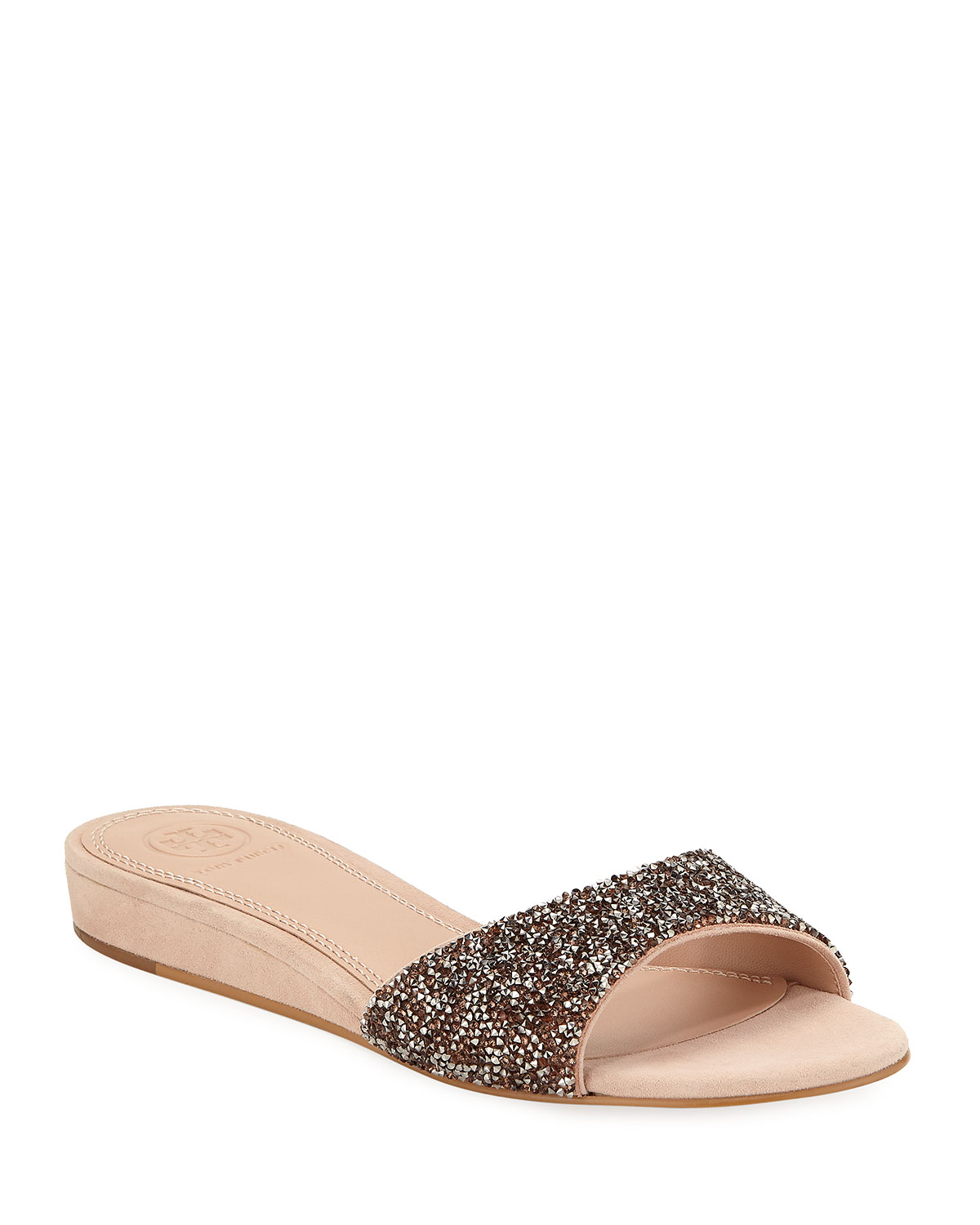 d807a906e1c0 Tory Burch Elodie Glitter Wedge Sandals