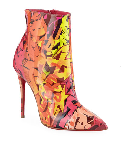 So Kate 100 Patent Metrograf Red Sole Booties