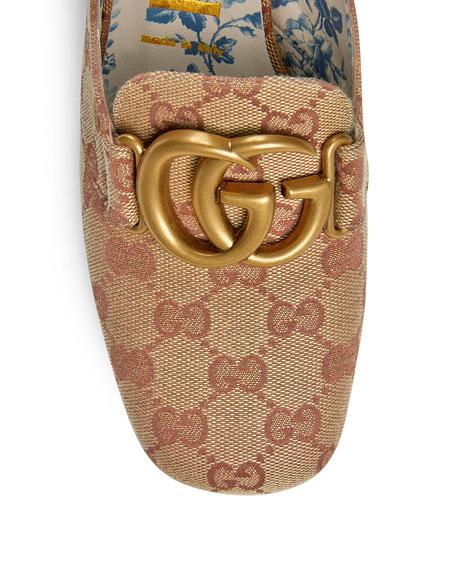 Gucci Original GG Canvas Block-Heel Loafer Pumps