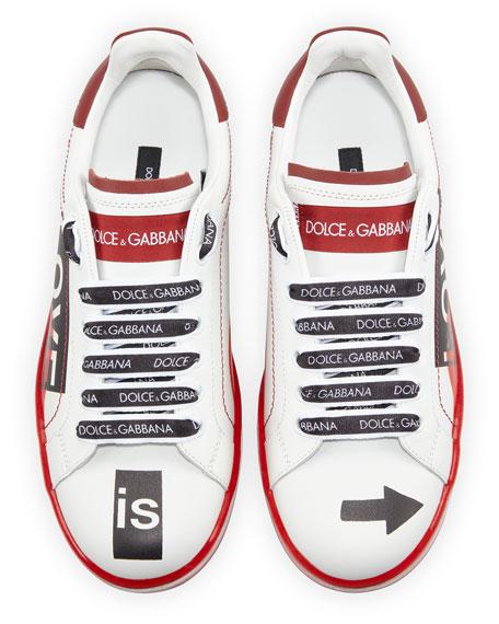 Dolce & Gabbana Portofino Love Melt Sneakers