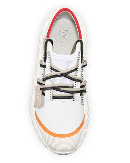Giuseppe Zanotti Urchin Mixed-Media Platform Sneakers