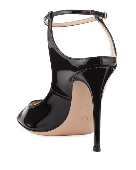 Gianvito Rossi Patent Ankle-Strap Sandals